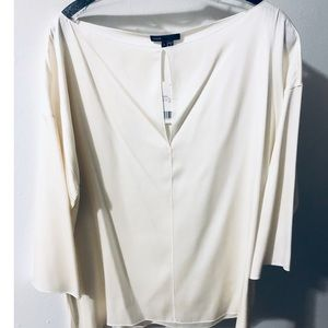 BNWT! Vince Blouse, 3/4 Length Sleeve, Ivory Large